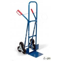 Diable monte escalier acier soudé avec poignées de sécurité 200 kg roues pleines