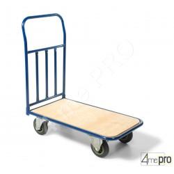 Chariot acier économique 300 kg avec plateau en bois