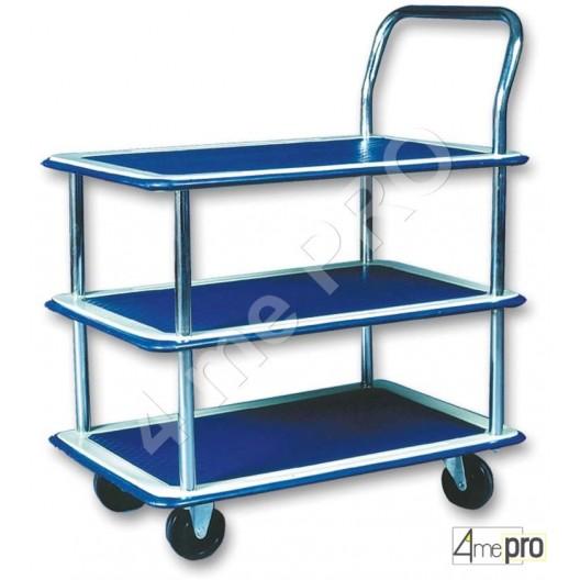 Table roulante conomique acier 3 plateaux 150kg 4mepro - Table roulante 3 plateaux ...