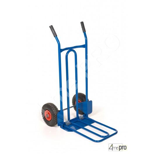 diable acier pelle rabattable 250 kg roues pleines 4mepro. Black Bedroom Furniture Sets. Home Design Ideas