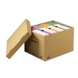 Container pour boite à archives avec couvercle 43 x 33,5 x 27 cm