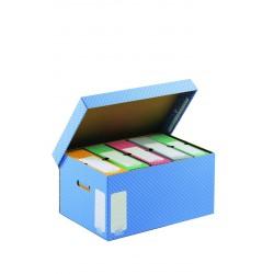 Container pour boite à archives gris avec couvercle 43 x 33,5 x 27 cm