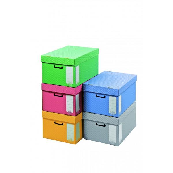 container pour boite archives gris avec couvercle 43x33 5x27cm. Black Bedroom Furniture Sets. Home Design Ideas