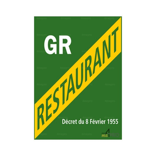 panneau de licence grand restaurant
