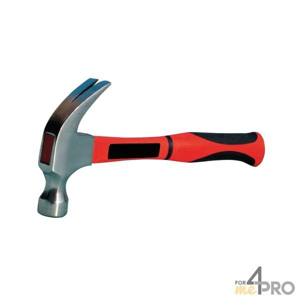 Marteau arrache clous, marteau américain avec panne fendue et séparée en deux.
