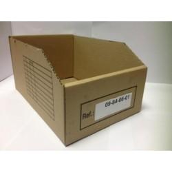 Bac de stockage carton 30 x 5 x 11 cm