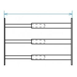Grille de défense télescopique de 99 à 188 cm de long pour fenêtre de 39 à 52 cm de haut