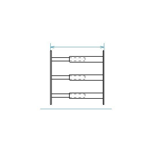 Grille de défense télescopique de 55 à 103 cm de long pour fenêtre de 39 à 52 cm de haut