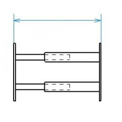 Grille de défense télescopique de 55 à 103 cm de long pour fenêtre de 26 à 39 cm de haut