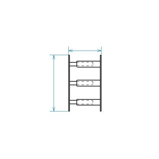 Grille de défense télescopique de 30 à 55 cm de long pour fenêtre de 39 à 52 cm de haut