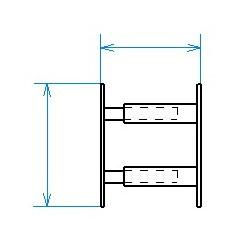 Grille de défense télescopique de 30 à 55 cm de long pour fenêtre de 26 à 39 cm de haut