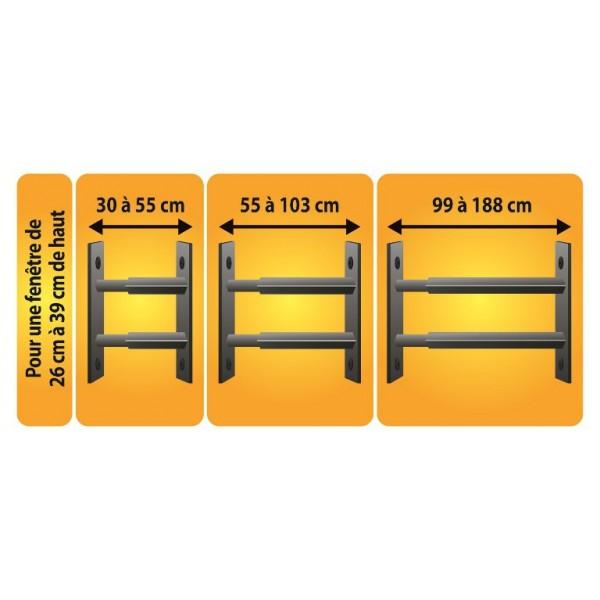 grille de d fense 30 55cm pour fen tre de 26 39 cm de haut. Black Bedroom Furniture Sets. Home Design Ideas