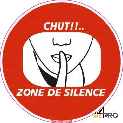 Panneau zone de silence, interdit au bruit