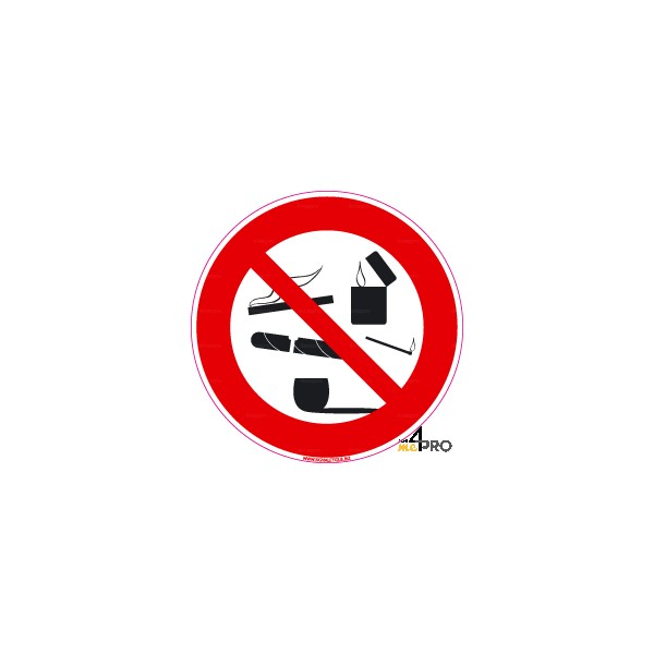 Panneau Rond Interdiction De Fumer 8