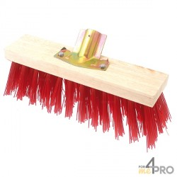 Balai cantonnier PVC rouge 40 cm