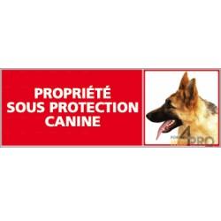 Panneau de signalisation Propriété sous protection canine 3