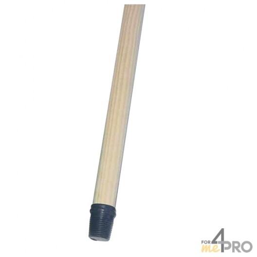 Manche en bois 130 cm pour balais et raclettes
