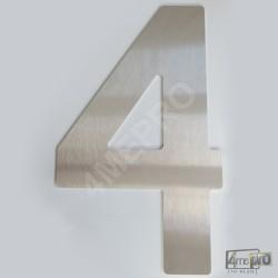 Plaque Numéro de maison 40 cm inox brossé
