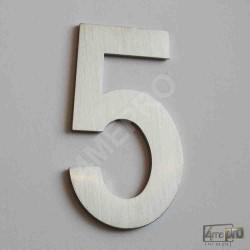 Plaque Numéro de maison 7,5 cm inox brossé