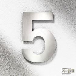 Plaque Numéro de maison 25 cm inox brossé