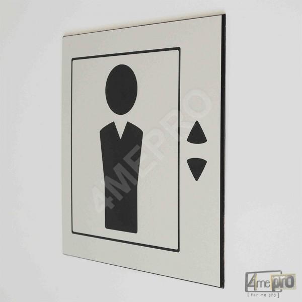 Plaque de porte ascenseur pictogramme 4mepro - Plaque de porte design ...