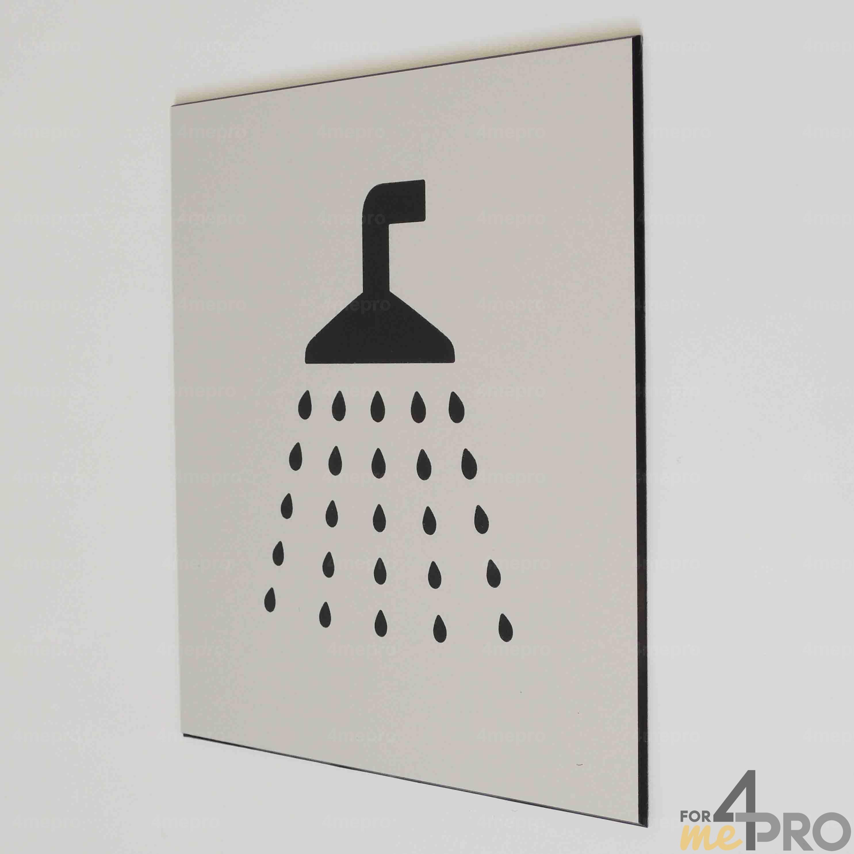 plaque de porte douche pictogramme 4mepro. Black Bedroom Furniture Sets. Home Design Ideas