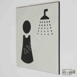 """Plaque de porte """"douche femme"""" Pictogramme"""