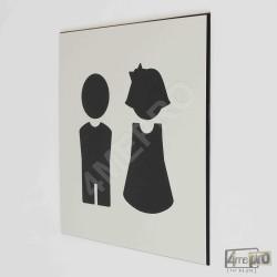 """Plaque de porte """"garçon et fille"""" Pictogramme"""