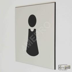 """Plaque de porte """"toilettes femmes"""" Pictogramme"""