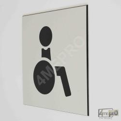 """Plaque de porte """"toilettes personnes handicapées"""" Pictogramme"""