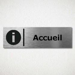 Plaque de Porte Accueil Pictogramme