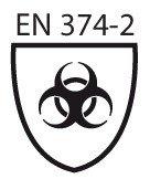 Pictogramme norme EN 374-2 micro-organismes