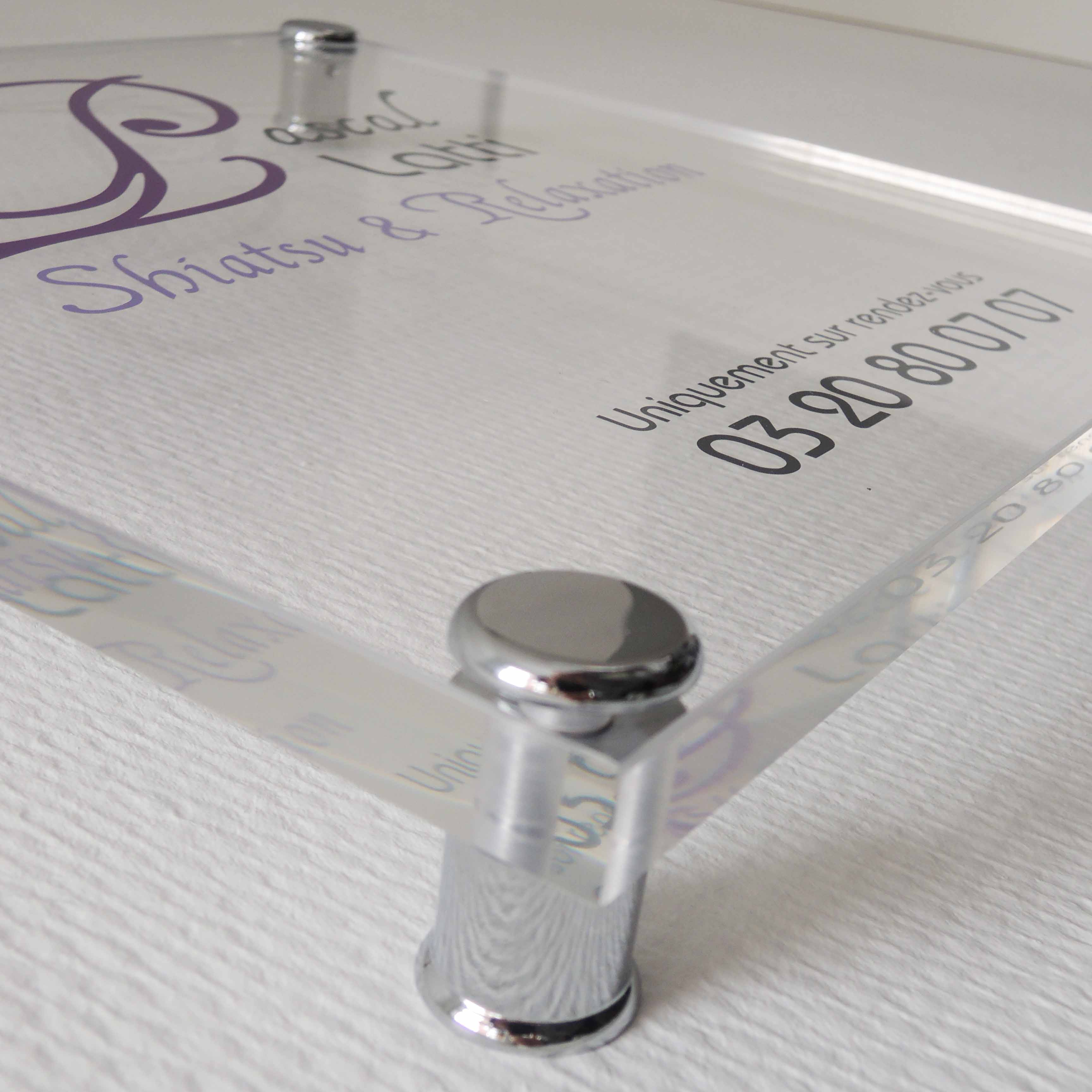 Les plaques professionnelles et plaques de soci t 4mepro for Plaque inox adhesive