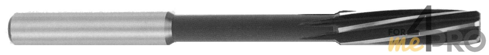 Alésoir machine avec queue cylindrique et goujures hélicoïdales