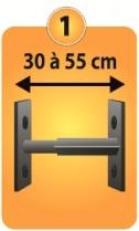 Grilles de défense télescopique 1 barreau pour fenêtre de 30 à 55 cm de large