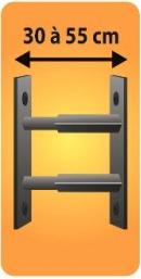 Grilles de défense télescopique 2 barreaux pour fenêtre de 30 à 55 cm de large