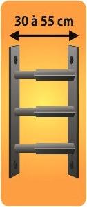 Grilles de défense télescopique 3 barreaux pour fenêtre de 30 à 55 cm de large
