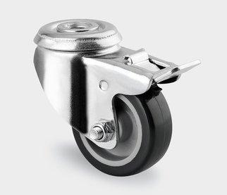 roulette pivotante à frein